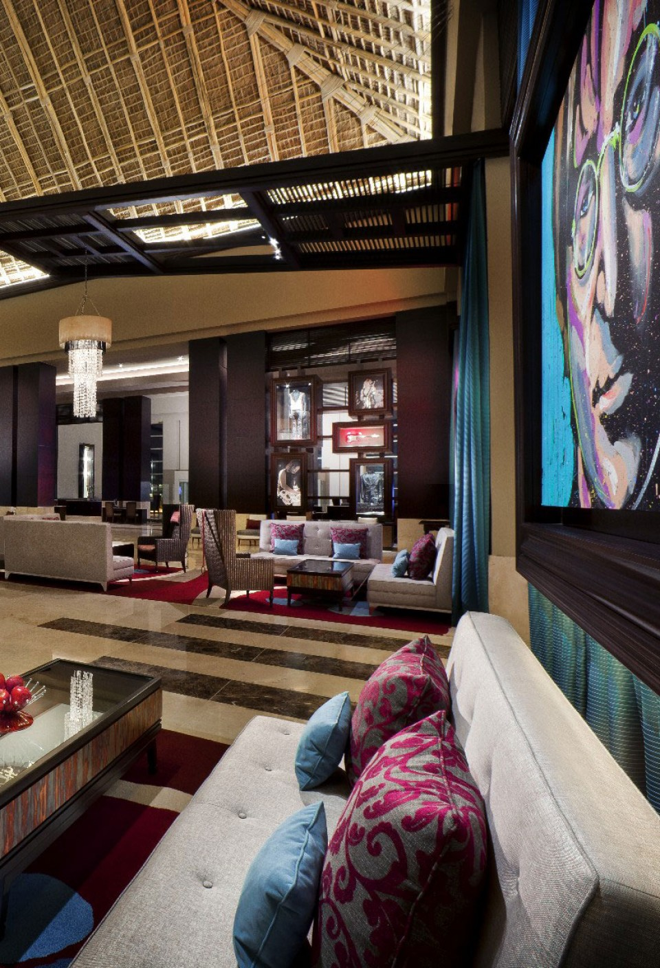 The Gettys Interior Design Team Converted An Existing Resorts Neutral Palette Into Energetic Hard Rock Hotel And Casino By Layering Vibrant Colors