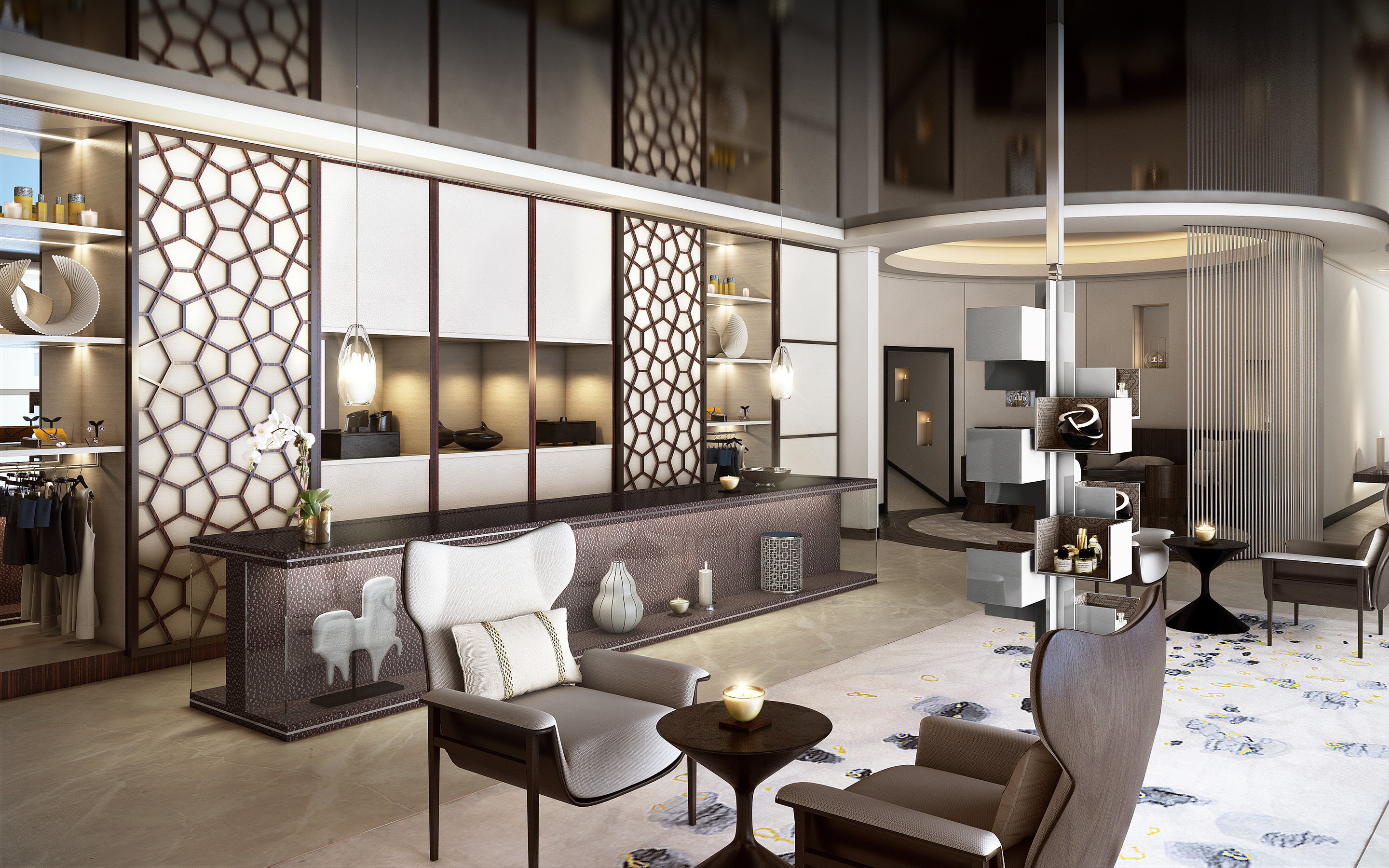 Luxury hotel qatar the gettys group for Design hotel reception